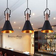 Vintage Scandinavian Design Pendant Light Industrial Loft Bar Cafe Black Metal