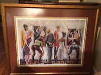 Lithograph Spectators At The Tarkey Exhibit Artist Marcus Glen Signed PP  12/81