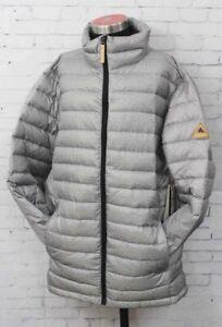 Burton Evergreen Down Insulator Snowboard Jacket Men's Medium Gray New
