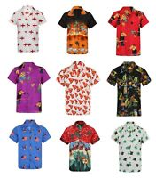 HAWAIIAN SHIRT MENS PALM TREE BEACH HOLIDAY PARROT FANCY DRESS STAG PARTY LOUD!