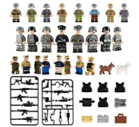 24 Pcs Minifigures Military Marines Soldiers SWAT Military Lego MOC
