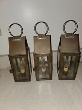 Set of 3 S. Wilder Orleans Mass Handcrafted Barn Lamp Style Light Fixtures