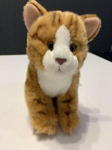 Toys R Us ANIMAL ALLEY Tabby Cat Fluffy Orange Stripes Kitty Kitten Plush 2017