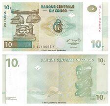 Congo 10 Francs 1997  P-87b  Banknotes UNC