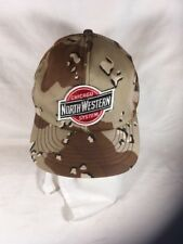 Chicago Northwestern system hat cap mesh snap patch camo Made USA trucker