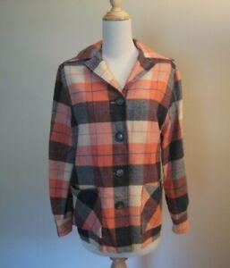 Vintage 1950's Pendleton Style Wool Plaid 49er Jacket