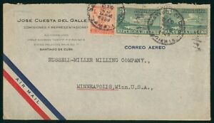 Mayfairstamps Habana 1939 Santiago to US Commercial Airmail cover wwp2041