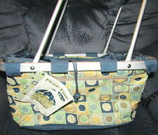 New Picnic Time Metro Basket Insulated Tote Collapsible Brown Sage Blue Nwt