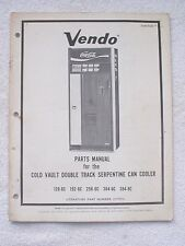 Vintage 1973 VENDO COCA-COLA CAN SODA VENDING MACHINE PARTS MANUAL