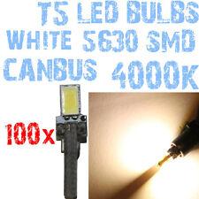 N 100 Gloeilampen LED T5 CANBUS 4000K SMD 5630 Koplampen Angel Eyes DEPO FK 1A5A