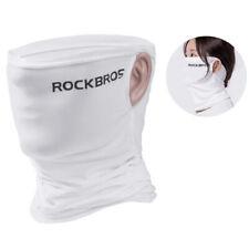 RockBros Sports Ice Silk Scarf Neck Warmer Bike Headband with Hanging Ear White