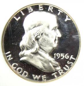 1956 PROOF Franklin Half Dollar 50C Coin - NGC PR68 Cameo (PF68) - $325 Value!