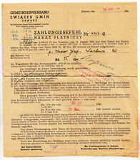 Zahlungsbefehle 1942 Zamość Lublin Polska Wegesteuer Polnische Dokumente ! (D7