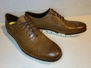 New Cole Haan Zerogrand Wingtip Oxford Shoes C14493 Brown Mens Size 11
