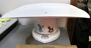 vintage large metal Counselor Baby Scale, 18 inches long, nearly 5 pounds, works