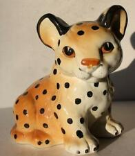 Cheetah-Leopard-Cougar Figurine Ceramic-Porcelain Hand Painted Unmarked Adorable