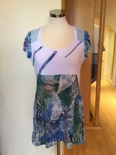 Jean Gabriel Top Size 10 BNWT Blue White Green RRP £95 Now £28
