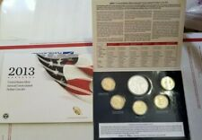 2013 U.S. Mint Annual Dollar Uncirculated 6 Coin Set OGP w/SILVER EAGLE