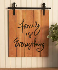 Barn Door Wall Hanging Art Rustic Farmhouse Country Decor Family Is Everything