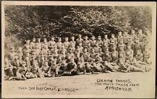 Military Real Photo RPPC ~WW I German Troops ~ This Photo Taken From a Prisoner