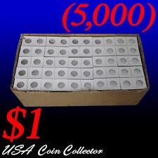 (5000) Small Dollar Size 2x2 Mylar Cardboard Coin Flips for | $1 Paper Holder