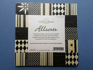 Allsorts Pearlescent Craft Paper Pack 6 Sheets of 6 Designs, 36 Sheets Total