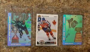 (3) 1991-92 Wayne Gretzky Upper Deck SP1 & Czech Hologram insert card lot Hull