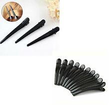 10x Metal Crocodile Hair Clip Sectioning Hair Grips Salon Alligator Snap Claw