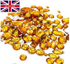 50 x grado A ORO Sew sul gemme di diamante rotondo cristallo strass 10 mm UK vendere #3