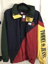 Tommy Hilfiger NEW Vintage Color Block Jacket Mens SMALL 90s VTG BIG FLAG LOGO