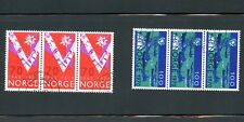 LOT 67499 USED BLOCKS 555 556  NORWAY  STAMPS V FOR VICTORY