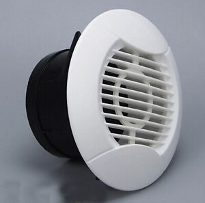75mm Round Air Vent / Grille / Diffuser Ducted with Adjustable Flow Control