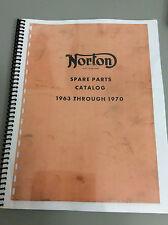 Norton Spare Parts catalogue 1963-1970 , 88ss ,650ss ,Atlas, Commando , G15