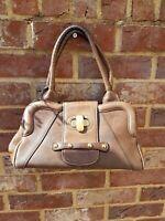 Authentic Max Mara Medium Brown Leather shoulder Bag