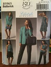 Butterick 5965 sewing pattern Misses Jacket top dress skirt pant size 8-16 uncut