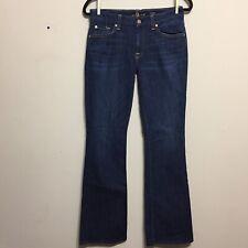 132aa2b1e6294 7 For All Mankind Jeans Womens Size 28P Dark Wash Lexie Kimmie Bootcut USA  EUC
