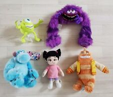 MONSTERS INC UNIVERSITY soft toy SULLEY bundle ART disney store MIKE boo GEORGE