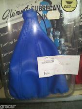 Cuffia Copri Leva Cambio VERA pelle gear gaiter real leather Tuning Ghirardi Blu