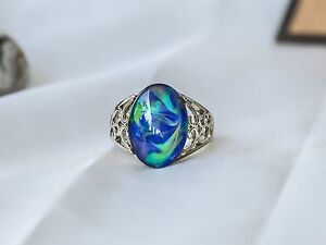 Limited Edition Borderless Opalescent Oval Stone Mood Ring