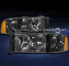1999-2001 DODGE RAM 1500 SPORT PICKUP HEADLIGHT W/CORNER TURN SIGNAL LAMP SMOKE