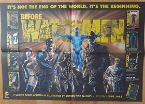 Before Watchmen promotional poster, new frontiersman newspaper 2 sided htf