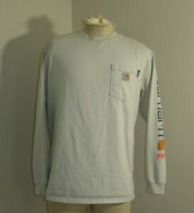 CARHARTT FR 500005 Force Gray Fire Flame Resistant Long Sleeve Shirt Large