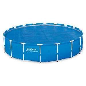 Bestway 58173E 18 Foot Round Above Ground Swimming Pool Solar Heat Cover, Blue