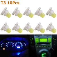 10Pcs T3 COB Wedge LED Dashboard Lamp Panel Bulb Auto Car Instrument Light NEW