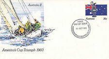 AUSTRALIA 11 OCTOBER 1983 AMERICA CUP TRIUMPH OFFICIAL FIRST DAY COVER SHS