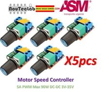 5pcs 5A PWM Max 90W DC Motor Speed Controller 3V-35V Switch LED Dimmer