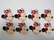 NEW Wholesale 8 pcs Minnie Mouse Jewelry Making Metal Figures Pendant Charms