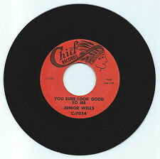 BLUES 45 JUNIOR WELLS YOU SURE LOOK GOOD TO ME ON CHIEF VG+  REPRO