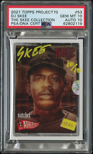 PSA 10 Satchel Paige x DJ Skee Illmatic Signed Topps Project 70 Auto Card #10/10