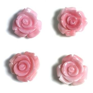 1 PC Natural Queen Conch Shell Rose Flower 15mm - NEW DIY Bead Design Wholesale